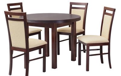 Стол POLI I со стульями  MILANO V